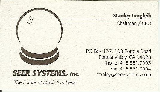 1995 seer business card