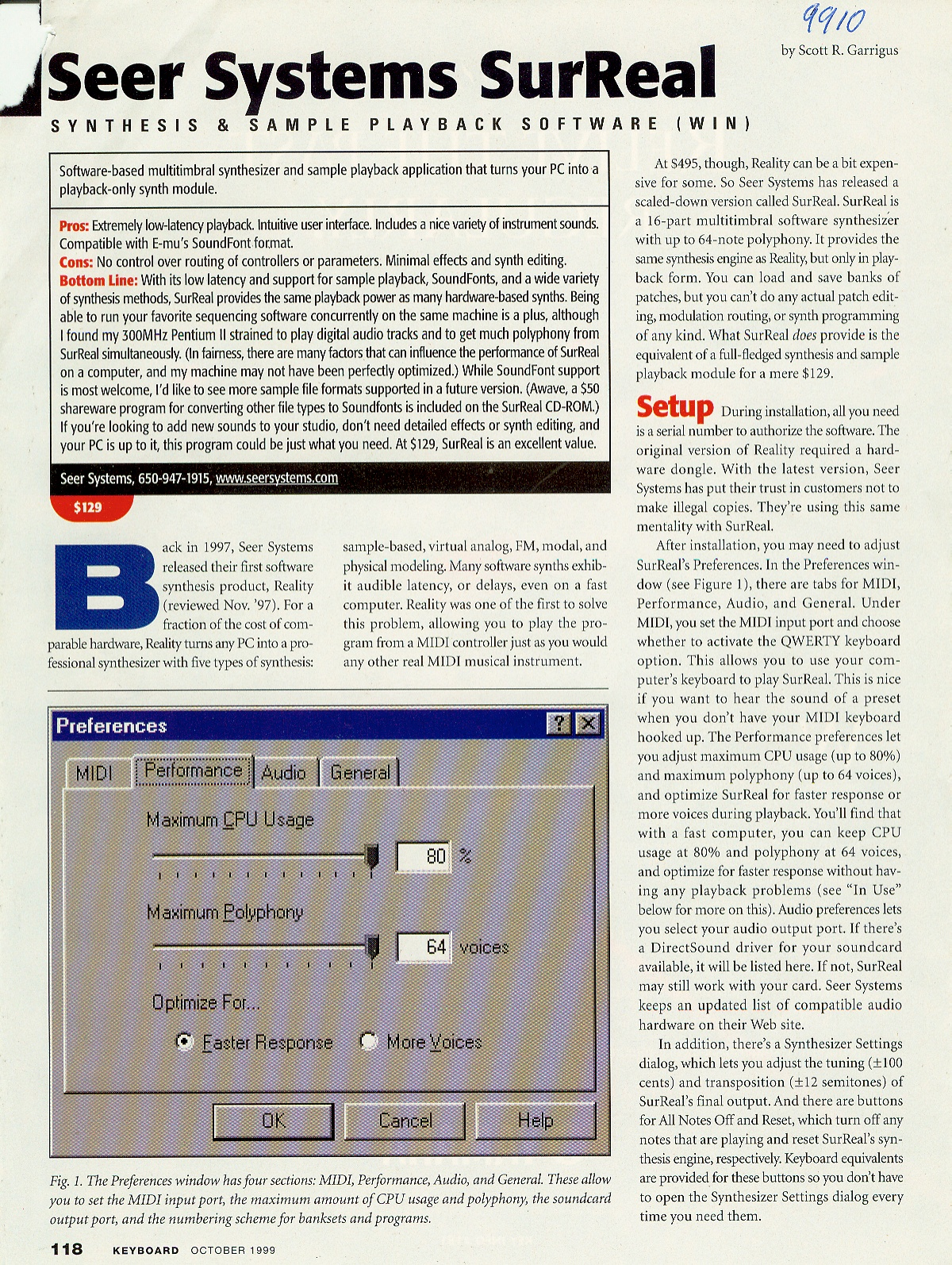 9910 SURREAL ARTICLE PG1 KEYBD